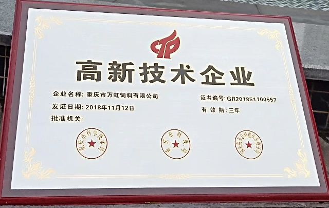 祝贺新宝gg5注册登录公司成为重庆市高新技术企业